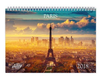 Paris 2018 Wall Calendar