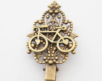 Bike Hair Clip, Bicycle Gift, Biker Gift, Biking Gift, Biking Hair Accessories, Vintage Bicycle Hair Clip, Gifts under 20, Hair Accessories