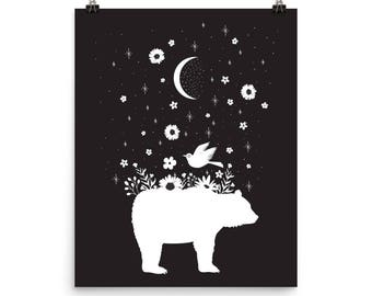 Moonlight Bear - Archival Quality Print