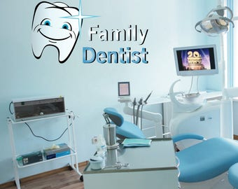 Dentist Wall Decal Etsy - Window decals for dental office
