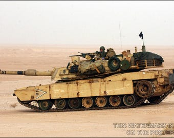 Poster, Many Sizes Available; Usmc M1 Abrams