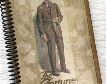 Very VINTAGE BOOK Journal Spiral Bound Re-purposed Book 1910