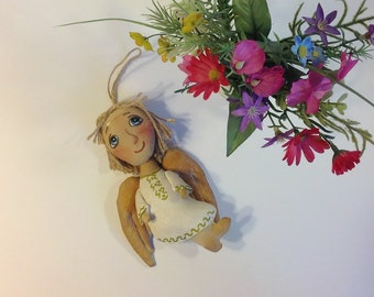Valentine's day gift Angel ornament  Valentine's décor guardian angel gift Little Angel doll wall hanging angel