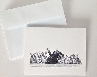 Mother & Babies Note Cards