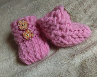 Handmade Knit Baby Boots