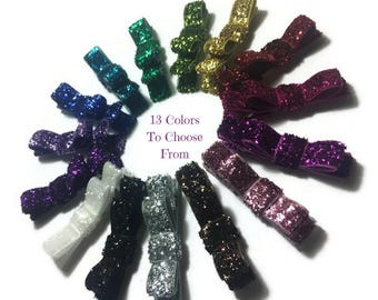 Glitter Tuxedo Hair Bows, Glitter Hair Bows, Glitter Hair Clips, Simple Glitter Bows, Glitter Ribbon Bows, Girls Glitter Bows, No Slip Bows
