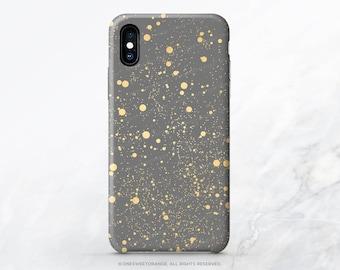 iPhone X Case iPhone 8 Case iPhone 7 Case Snow Polka Dots iPhone 7 Plus Case iPhone SE Case Samsung S8 Plus Case ( Not Real Gold ) R17