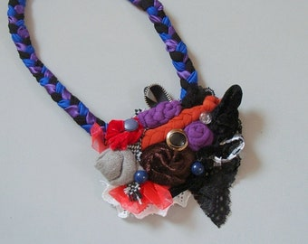 Fabric Necklace Artistry