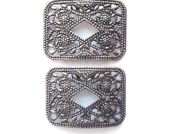 Vintage Shoe Clips Shoe Jewelry Pressed Metal