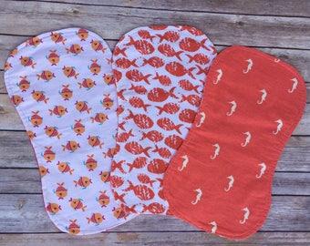 Flannel Contour Burp Cloth-Set of 3