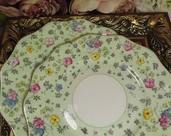 2 Pretty Chintz Foley/ Shelley  , Plates  Vintage ,