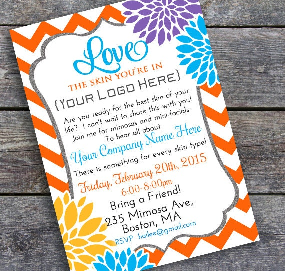 Business party invitation diy printable summer colors wajeb Gallery