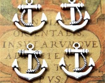 15pcs anchor Charms silver tone anchor Charms pendants 20x23mm ASD2206