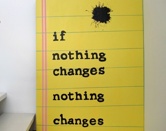 Word Art-If Nothing Changes