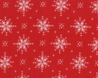 Woodland Winter Stitch Snowflake Santa Color ~ Woodland Winter Collection for Michael Miller Fabrics