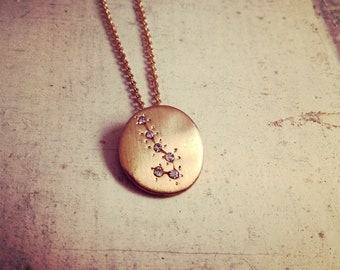 Hand Made Scorpio Zodiac Sign Constellation Necklace GOLD Constellation necklace Scorpio Star Sign Charm Zodiac Charm Small Charm (N010)