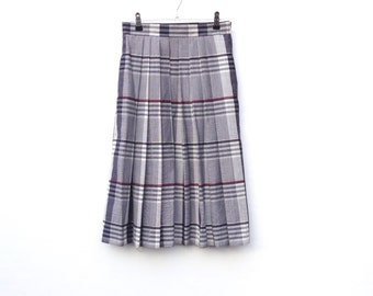 Vintage Skirt | Checked | Heritage | Box Pleat | Small