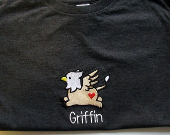 Cute Griffin Children's T-shirt (can be personalized!)