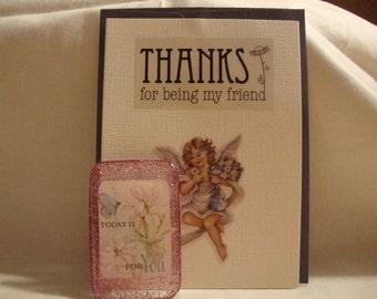 magnet, flower decor, flower magnet,friend magnet, friend decor,friend gift,friendship gift, resin friend magnet,friend kitchen decor (258)