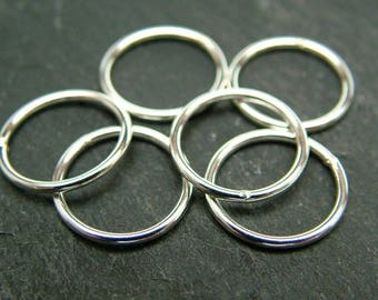 Sterling Silver Closed Jump Ring 12mm ~ 18ga