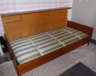 Teak Fold Away Bed Space Saver