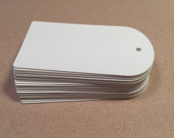 Die Cut, Hang Tags, White Blank Tags, Price Tag, Gift Tag, Retail Tag, 110 lb Card Stock CP-1211