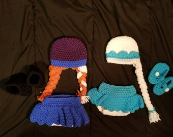 Elsa And Anna Inspired Newborn Baby Outifts