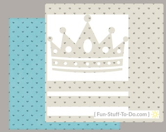 Paper Crown With Gemstones - Digital Transparent Overlay Template Package