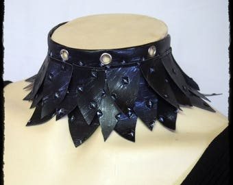 Silver Scale Armour Look Choker Neck Piece - Ready to Ship - Warrior Dragon Huntress Cosplay GOT Cersei Tribal Gothic