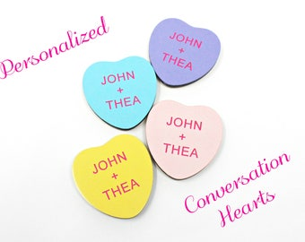 Personalized Conversation Heart Magnet - Funny and Sweet Valentine's Day Gifts
