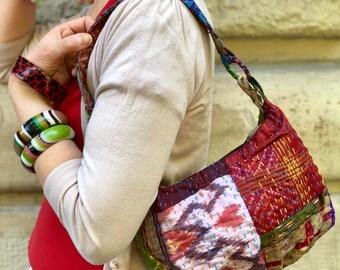 Vintage Boho style silk bag
