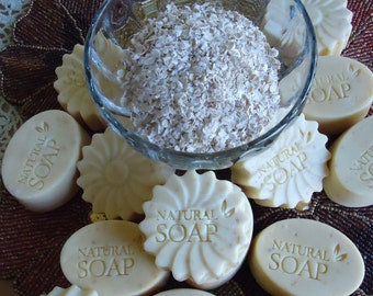 Natural Handcrafted Oatmeal and Honey Soap
