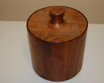 Vintage Wooden Container with Matching Lid