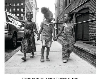 Cornrows, Afro Puffs & Joy (Poster - 19X27 in)