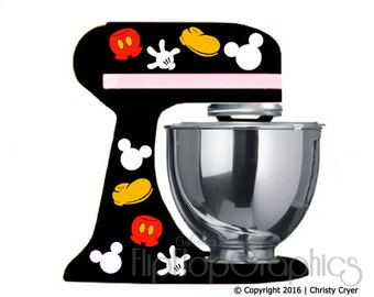 Disney Mickey Mouse Pieces for your Dark/Black Kitchen Mixer