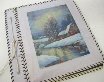 Mid Century Scrapbook Album Cabin Scrapbook Photo Album Guestbook
