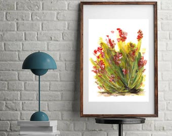 "Floral abstract, Abstract flowers painting, Flowers Girlfriend Gift, Abstract Daughter Gift, Red flowers painting, Original art, ""Blooming"""