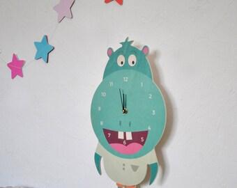 """""""Hippopotime"""" pendulum wall clock"""