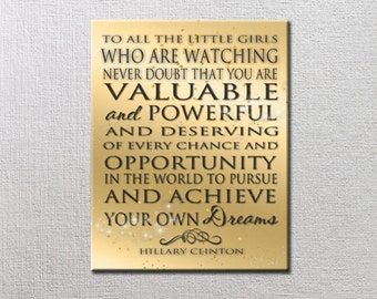 Never Doubt that you are Valuable and Powerful - ART BLOCKS Word Art Print ready to frame. Strong Women Quote - achieve your dreams