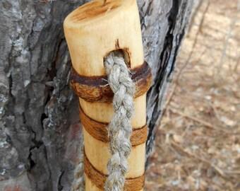 Hiking stick, Natural finish Wood Walking Staff