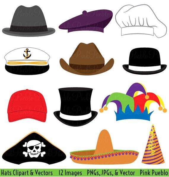 hats clipart clip art party hat top hat clipart clip art vectors rh etsystudio com hats clipart images hat clip art images