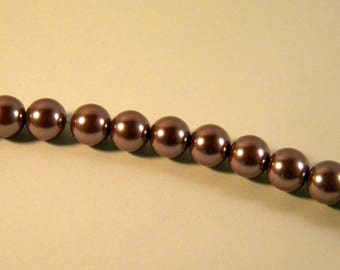 15 Pearly 10 mm light purple Pearl glass beads