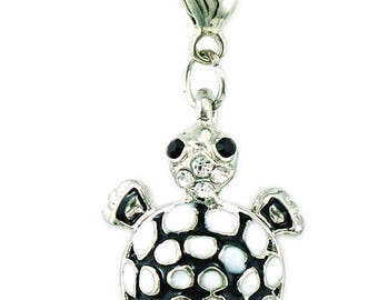 Pendant turtle Charms black and white