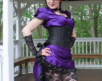 Gothic Dress | Dark Delight | Steampunk Dress, Gothic Victorian Dress, Purple Gothic Dress, Bustle Dress, Gothic Lolita Dress, Corset Dress