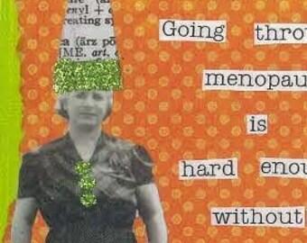 Menopausal murder suspect Greeting Card