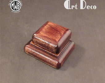 Engagement Ring Box, Art Deco Antique Style. Free Engraving and Shipping. RB-97