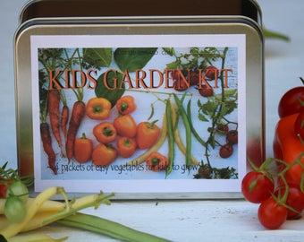 Kids DIY garden kit, Kids Garden gift Set collection, seed kit for kids, kids garden kit, gardening, kids crafts, kids birthday gift, seeds