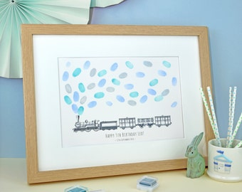 Steam Train Fingerprint Keepsake