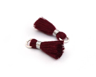 Small PomPoms 2 set of 2 cm / Burgundy FM P145