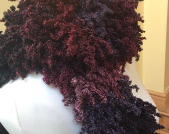 Oh La La Maroon Purple and Pink ladies Scarf